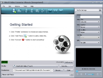 Xilisoft Video Converter Ultimate screenshot