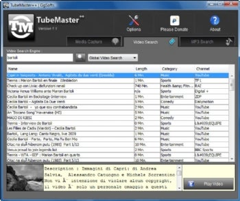 TubeMaster++ screenshot