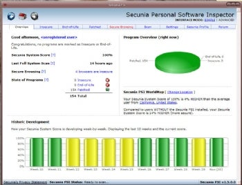 Secunia PSI screenshot
