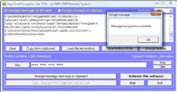 Easy Email Encryption Lite screenshot