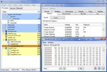 Process Hacker screenshot