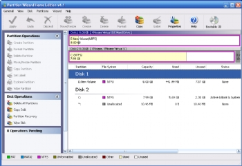 Partition Wizard screenshot