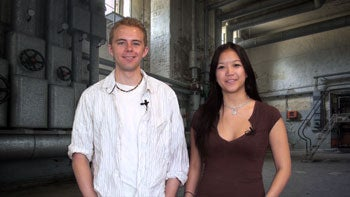Chris Holt (left) and Sarah Jacobsson
