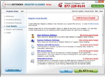 CyberDefender Registry Cleaner