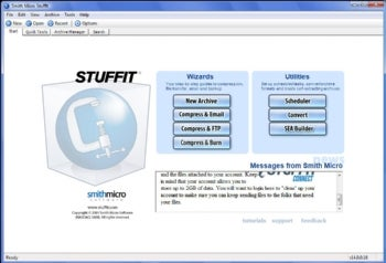 Stuffit Deluxe 2010 screenshot