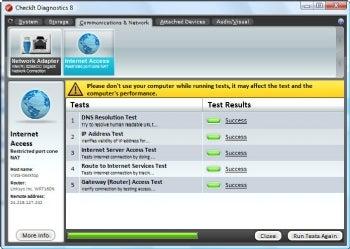 CheckIt Diagnostics screenshot