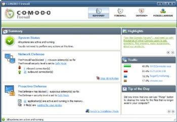 Comodo Firewall screenshot