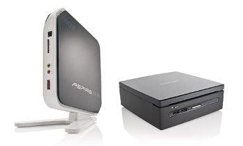 Acer AspireRevo R3610 (left); Viewsonic VOT530
