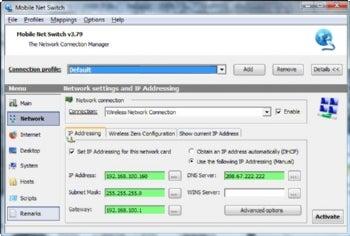 Mobile Net Switch screenshot