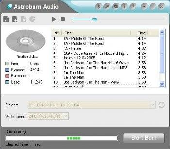 Astroburn Audio screenshot