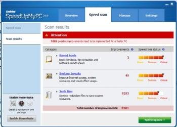 SpeedUpMyPC screenshot