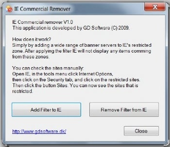 IE Commercial Remover  screenshot