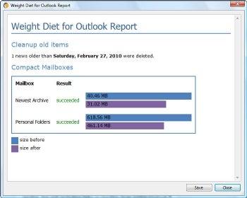Weight Diet for Outlook screenshot