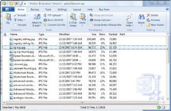 WinZip Pro screenshot