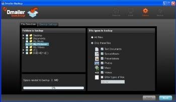 Dmailer Backup screenshot