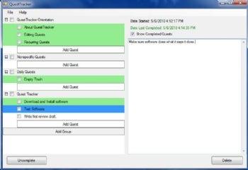 QuestTracker screenshot