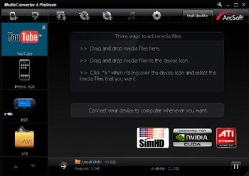 ArcSoft MediaConverter 4 screenshot