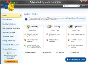 Advanced System Optimizer screenshot