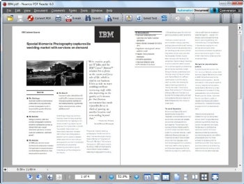 Nuance PDF Reader screenshot