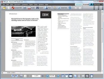 Nuance PDF Reader screenshot