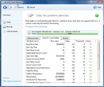 Acronis Drive Monitor screenshot