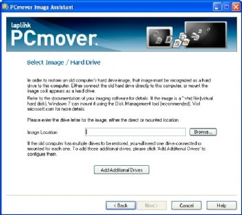 PCmover Image Assistant screenshot
