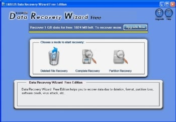 Easeus Data Recovery Wizard Free Edition screenshot
