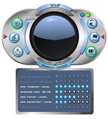 SRS HD Audio Lab screenshot