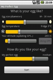 My Perfect Egg Timer app