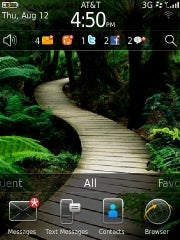 BlackBerry 6 OS home screen