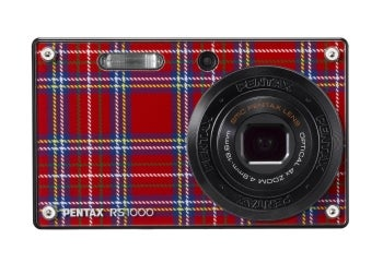 Pentax RS1000 with red plaid faceplate