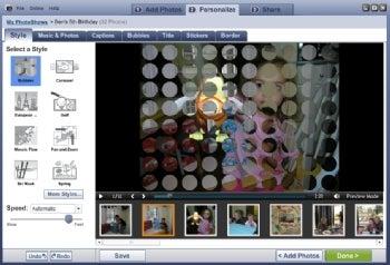 Roxio PhotoShow screenshot
