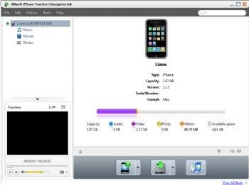 Xilisoft iPhone Transfer screenshot