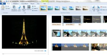 Windows Live Movie Maker screenshot