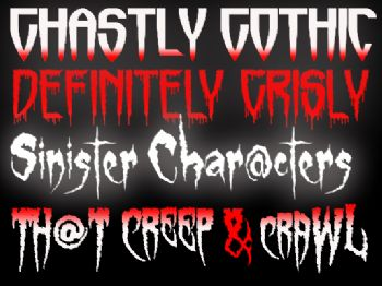 Sinister Visions Font Quartet screenshot