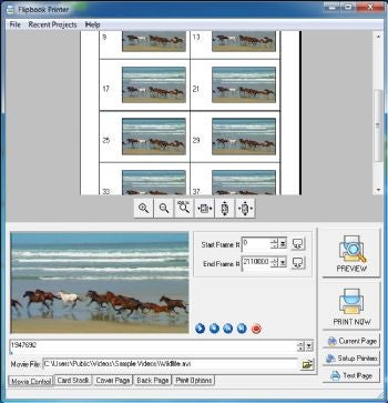 Flipbook Printer screenshot