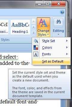 how to set a default font size in old outlook