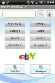 The eBay app.