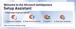 The still-beta version of Microsoft AntiSpyware offers an intuitive wizard that helps make installation and setup a breeze.